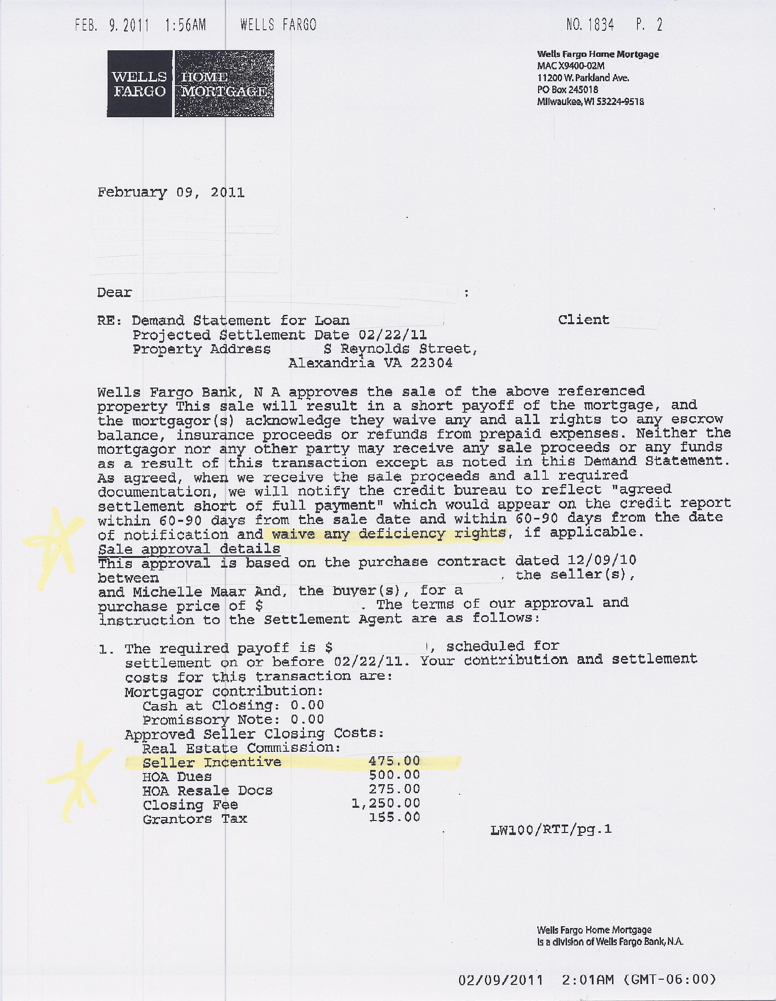Wells Fargo Short Sale Archives