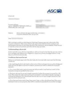 ASC approval letter