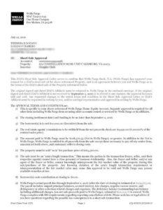 wells fargo short sale approval letter
