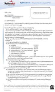 nation star short sale approval letter