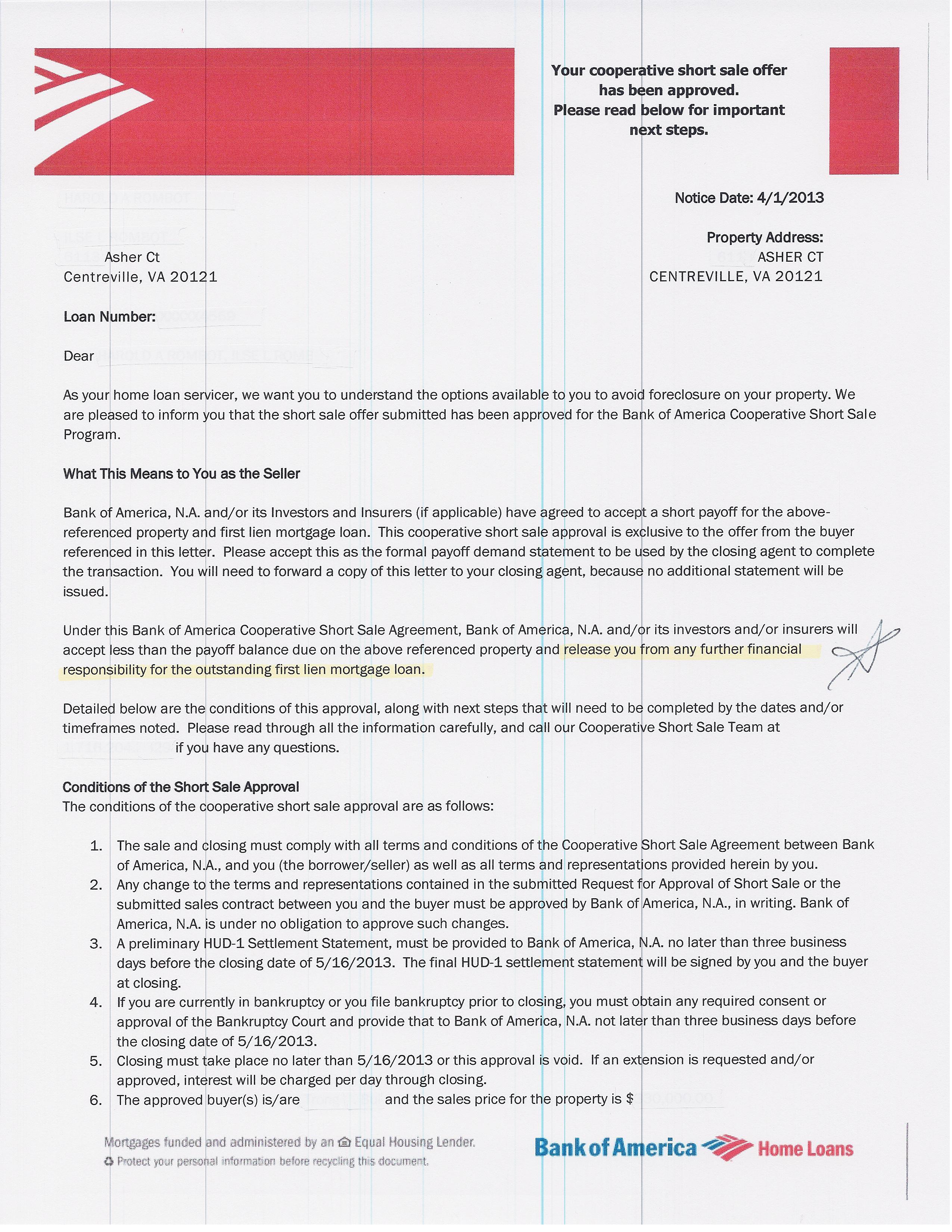 Sample Bank Of America Letterhead Cover Letter