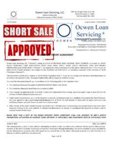 ocwen-short-sale-approval-letter