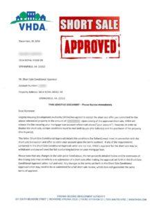 vhda-short-sale-approval-letter